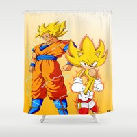 Super Sonic Warriors Z Shower Curtain
