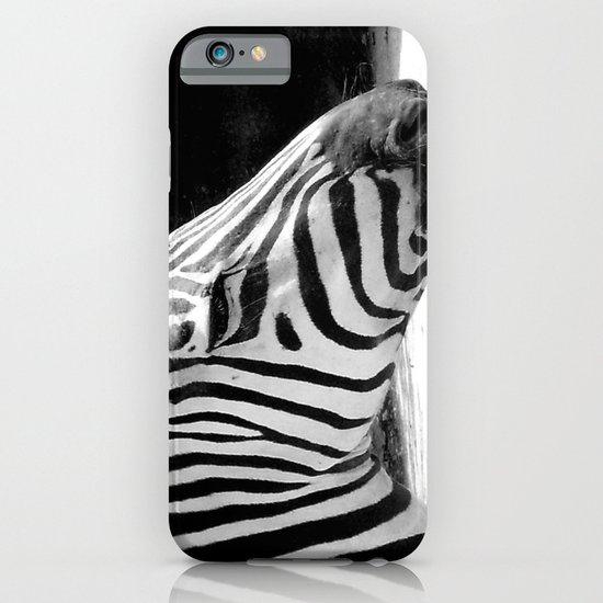b&w zebra iPhone & iPod Case