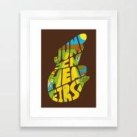 Jump In Head First Framed Art Print