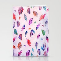 Watercolour Crystals  Stationery Cards