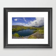 Framed Art Print featuring Pyramid View by Ian Mitchell
