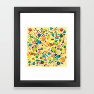 Dust Framed Art Print