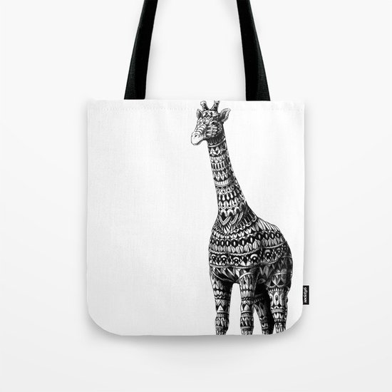 Ornate Giraffe Tote Bag