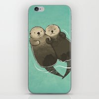 Significant Otters - Otters Holding Hands iPhone & iPod Skin
