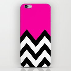 PINK COLORBLOCK CHEVRON iPhone & iPod Skin