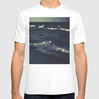 Night's Ocean Mens Fitted Tee White SMALL