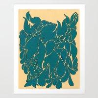 Blue Number 1 Art Print