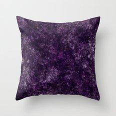 Purple Garden Throw Pillow