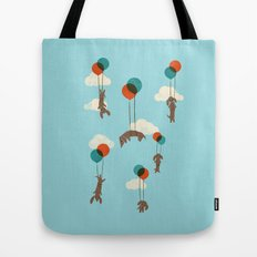 Flight of the Wiener Dogs Tote Bag