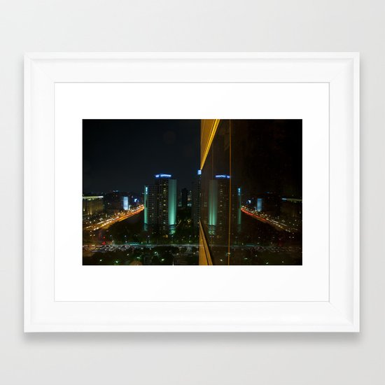 Seoul Reflection Framed Art Print