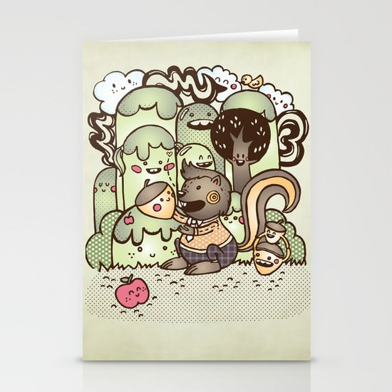Happy Squirrel Stationery Card