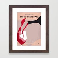 No563 My Bridget Jones Diary minimal movie poster Framed Art Print
