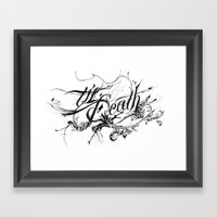 Minga X Til Death Framed Art Print