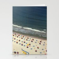Tel-Aviv beach at summer, high from above, Israel, scaned sx-70 Polaroid Stationery Cards