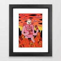 Alien Invader  Framed Art Print