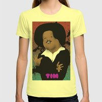 The Great Tim Maia Womens Fitted Tee Lemon SMALL