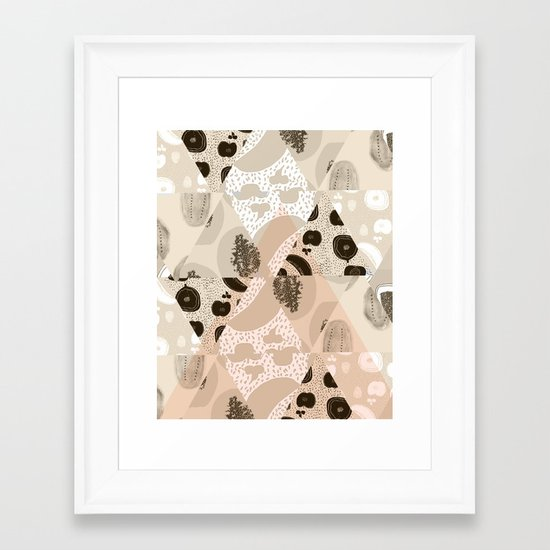 Fruit Geometry Framed Art Print