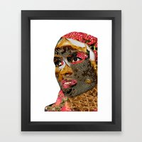 the enthusiasm of the colors Framed Art Print