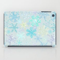 icy snowflakes iPad Case