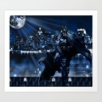 Dark Knight version 2 Art Print