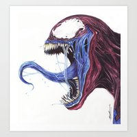 Venom Turned Spider Man Art Print