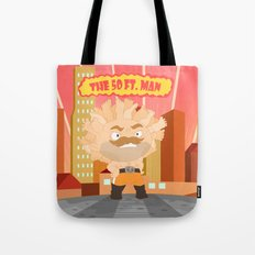The powerful 50ft. man Tote Bag