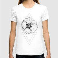 Dot Work Womens Fitted Tee White SMALL