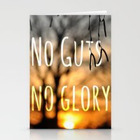 No Guts No Glory Stationery Cards