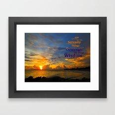 Serenity Prayer Sunset By Sharon Cummings Framed Art Print