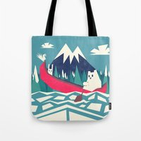 Yeti And Bunny Going On … Tote Bag