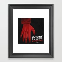 7 inch series: Nick Cave & the Bad Seeds - Red Right Hand Framed Art Print