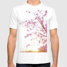 Sun-Drenched Mens Fitted Tee SMALL White