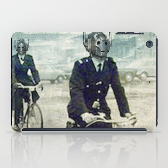 Cybermen on bikes iPad Case