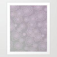 Faded Desert Floral Art Print