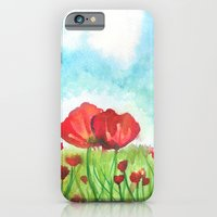 iPhone & iPod Case featuring Poppies by eefak
