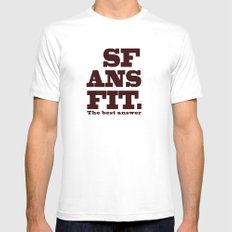 SFANSFIT... the best answer White SMALL Mens Fitted Tee