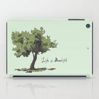 Life is Beautiful Olive Tree iPad Case