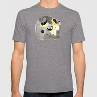 My planet Mens Fitted Tee Tri-Grey SMALL