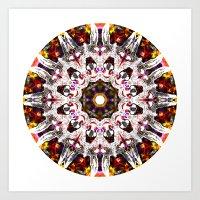 Donkey Flower Kaleidosco… Art Print