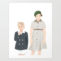 Ginny and Charles on the Boat Art Print