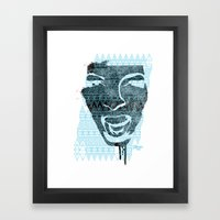 in the face of madness Framed Art Print