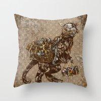 Loui Vui-Taun Taun Throw Pillow