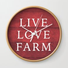 LIVE LOVE FARM Wall Clock