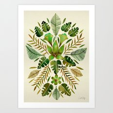 Tropical Symmetry – Ol… Art Print