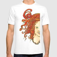 my dear Mens Fitted Tee White SMALL
