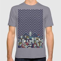 Twin Peaks Mens Fitted Tee Slate SMALL