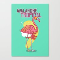 Avalanche Tropical Canvas Print