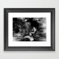Ruby Throat Framed Art Print