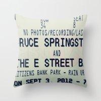 Bruce Springsteen & the E Street Band: Rain or Shine Throw Pillow