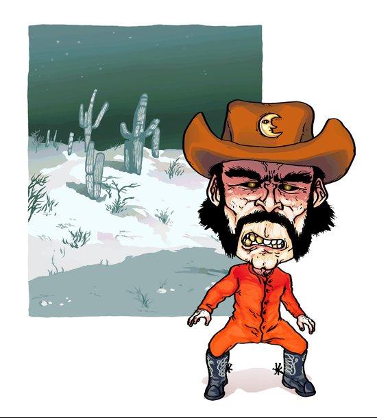 Night Cowboy Art Print